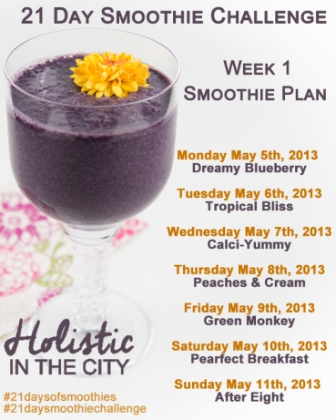 21 Day Smoothie Challenge Week 1